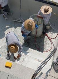 Pool Medic finishing a pool repair in Myrtle Beach